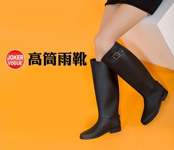 現貨*DE shop - 英式搖滾風萬年不敗工程雨靴 - A08