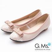 G.Ms. MIT系列-蕾絲織帶蝴蝶結娃娃鞋*粉色