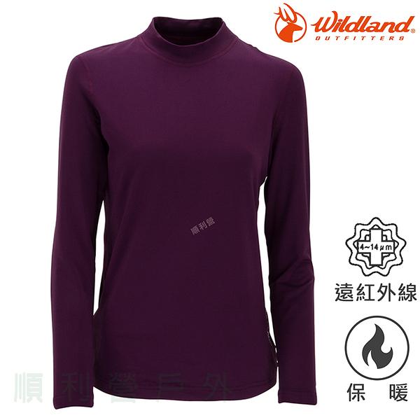 荒野WILDLAND 女款遠紅外線彈性保暖衣 W2651 深紫色 衛生衣 內衣 發熱衣 內搭上衣 OUTDOOR NICE