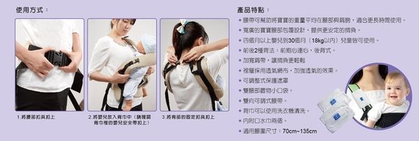 舒適牌 護腰式背巾 台灣製