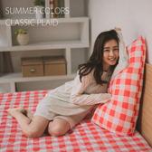 保潔墊-單人 [格子紅-抗污保潔墊] 保護床墊 ; 生理墊 ; 寵物墊 ; 耐水洗 ; 翔仔居家台灣製