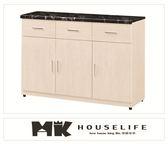 【MK億騰傢俱】BS302-02弗格森雪杉白4尺餐櫃下座(含石面)