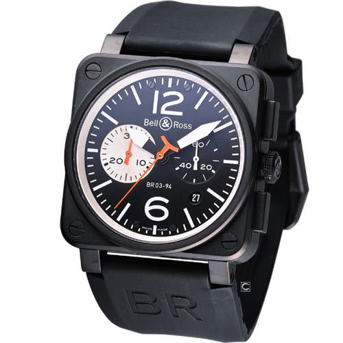 Bell&Ross 飛鷹戰士 自動機械計時腕錶 BR0394-CH-BW/SRU