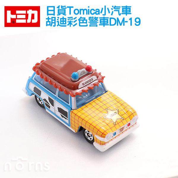 NORNS【日貨Tomica小汽車 胡迪彩色警車DM-19】迪士尼 日本多美小汽車 玩具車 胡迪警車 玩具總動員