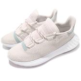 adidas 休閒鞋 Tubular Dusk W 米白 白 針織鞋面 女鞋 慢跑鞋 運動鞋【PUMP306】 B37765