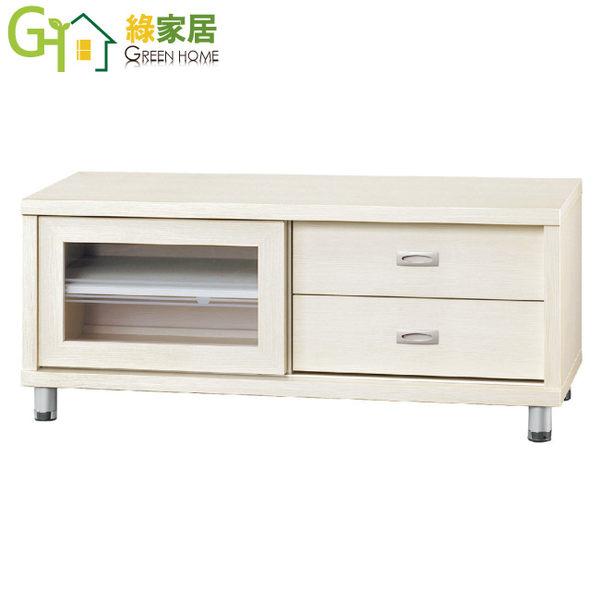 【綠家居】曼莎 時尚4尺二抽電視櫃/收納櫃(二色可選)