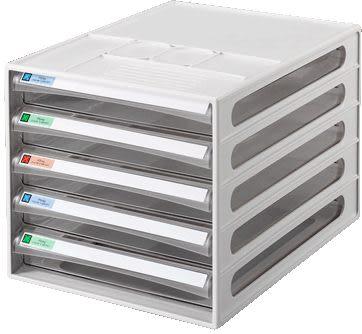[奇奇文具]  雙鶖BB-10050 摩登透明5層效率櫃