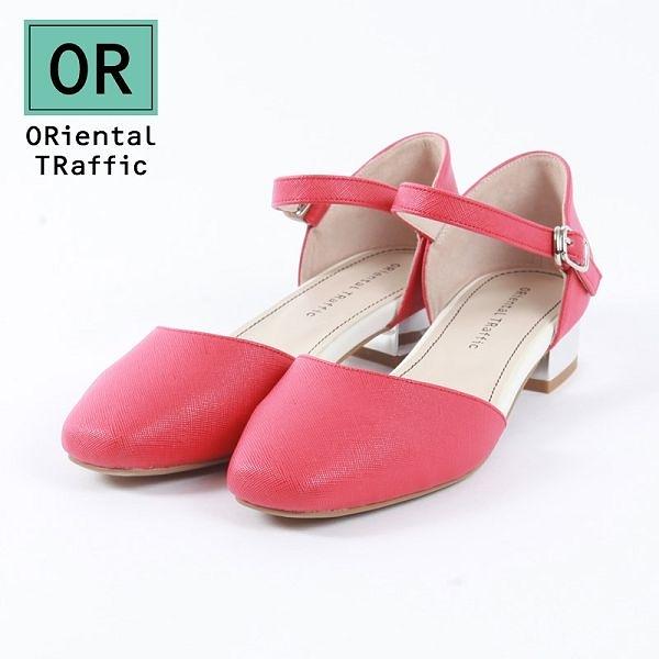 【ORiental TRaffic】優雅方頭繞踝瑪麗珍鞋 雅緻紅