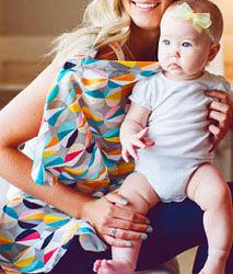 iae創百市集 美國Mothers Lounge Udder Cover 美型哺乳巾/哺乳遮罩-幾何彩球