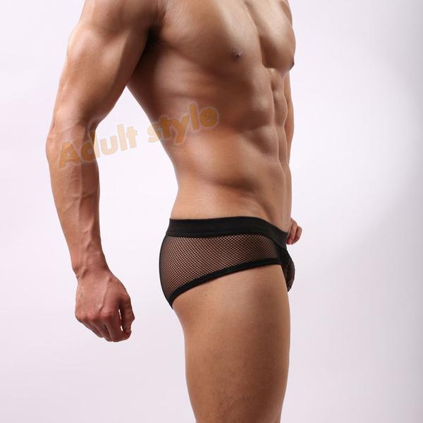 性感內褲 男性 三角褲 Bad Boy透氣網眼低腰內褲(黑色)XL號『萬聖派對』