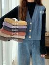 針織馬甲女 秋冬新款韓版純色V領毛衣外搭開衫寬松針織馬甲女背心外穿