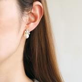 [現貨] itam 日本製 棉珍珠水晶耳環/耳夾 (NP165)