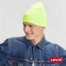 Levis 男女同款 毛帽 / 潮流螢光綠 / 全一色雙馬標