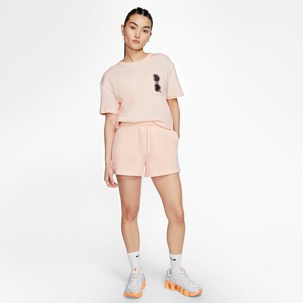 NIKE NSW 女裝 短袖 休閒 口袋 墨鏡 愛心 卡通 透氣 粉【運動世界】CU9700-664