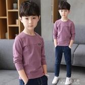 男童長袖T恤2020新款春秋裝季兒童上衣中大童體恤圓領套頭韓版潮 探索先鋒