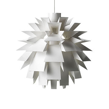 丹麥 Normann Copenhagen Norm 69 白色雕塑系列 葉果 吊燈(特大尺寸)