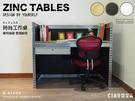 辦公傢俱 空間特工(長4尺x深2x高3.5,含抽屜 有色封板)鍍鋅 電腦桌 免螺絲角鋼 A款 AZ410B