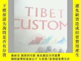 二手書博民逛書店TIBET罕見CUSTOMS 西藏風情 英文版 獨本Y19658