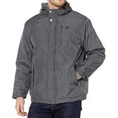 US Polo - 馬球夏爾巴羊毛裡連帽外套(瑟灰色)