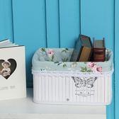 收納筐框子 藤編桌面收納籃編織盒零食雜物布藝竹編儲物籃客廳
