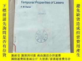 二手書博民逛書店spectral罕見spatial and temporal properties of lasers(P3538
