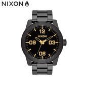 NIXON 手錶 原廠總代理 A346-1041 CORPORAL SS 黑金 潮流時尚鋼錶帶 男女  生日 情人節禮物