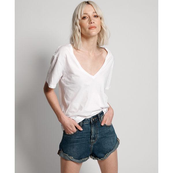 ONETEASPOON  DIRTY INDIGO BANDITS HIGH WAIST DENIM SHORT  牛仔短褲-深藍(女)