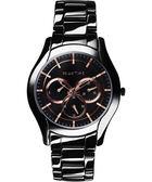 Relax Time 嶄新系列日曆女錶-黑x玫塊金/37mm RT-35-3-7L
