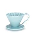 金時代書香咖啡 CAFEC Flower Dripper 花瓣濾杯 1-2人 藍色 CFD-01-BL
