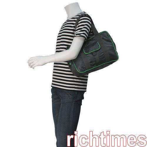 agnes b. 綠邊小肩包AB098213