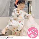 三層紗布面包超人寶寶【長袖】分腿式睡袋 哈衣 睡衣