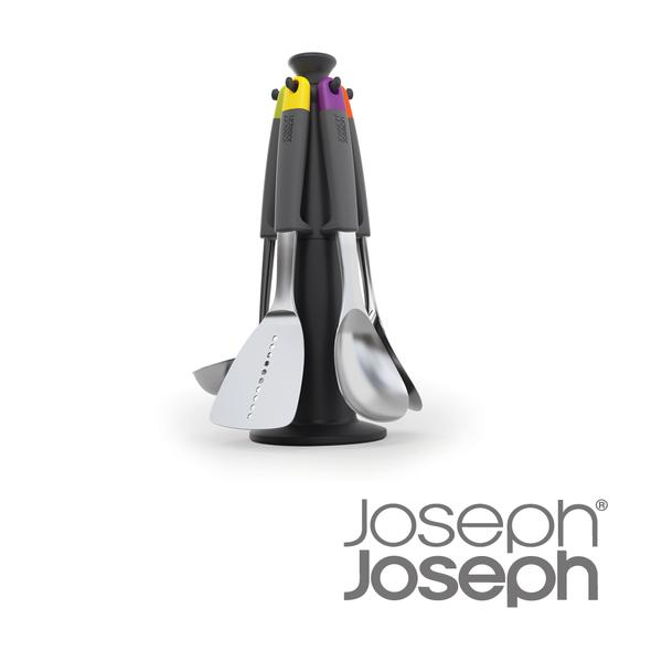 英國 Joseph Joseph 不沾桌不鏽鋼鏟杓料理六件組(附架)