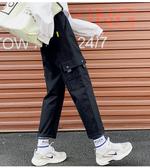 夏裝 工裝褲帥氣嘻哈寬鬆bf國潮cec喪系褲子怪味直筒闊腿褲