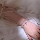手鍊星月雙層手銀ins冷淡風設計小眾簡約個性網紅貓眼石手串韓版女 新年禮物