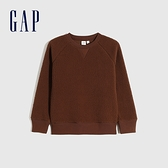Gap男童 保暖仿羊羔絨圓領休閒上衣 656948-棕色