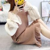 韓版小清新學生毛衣背帶裙秋裝女新款冬季過膝魚尾針織洋裝 衣櫥秘密