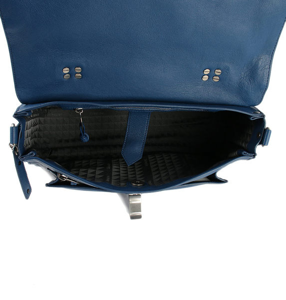 Proenza Schouler PS1 中款 山羊皮 手提 肩斜背 兩用包  藍