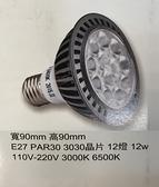 PAR30 LED E27頭 3030晶片 12W