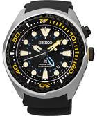 SEIKO 精工 Kinetic 怒海征服者GMT潛水200米手錶-黑x銀 5M85-0AB0Y