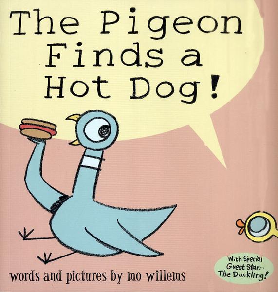 【麥克書店】THE PIGEON FINDS A HOT DOG /英文繪本 (Mo Willems/頑皮鴿子/楊禎禎)