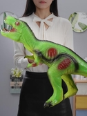 超大號仿真軟膠恐龍玩具霸王龍模型套裝 cf 全館免運
