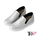 【TRS】韓國TRS-時尚皮質舒適內增高樂福鞋 ↑6cm -銀(7100-0030)