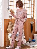 睡衣女春秋季薄款純棉長袖套裝韓版甜美可愛可外穿夏季家居服秋天 韓慕精品
