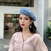 貝雷帽女百搭英倫日系畫家復古韓版八角帽【少女顏究院】