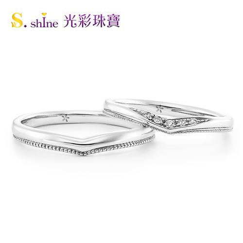 【光彩珠寶】婚戒 日本鉑金結婚戒指 男戒 皇室之戀