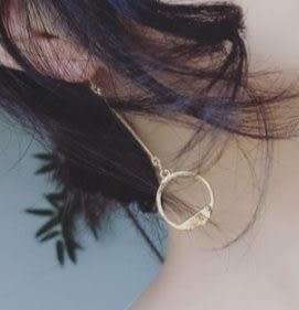預購-氣質飾品極簡個性造型圓圈幾何金屬片不對稱耳環耳釘