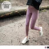 《KS0784》台灣製造.素色加寬高腰彈力運動貼腿褲 OrangeBear