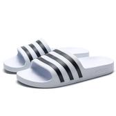 ADIDAS AQUA 白底 黑 輕量 防水 膠拖  拖鞋 女 (布魯克林) G28719