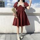 蛋糕裙 日系少女在逃公主裙大人超仙泡泡袖初戀甜美可鹽可甜連身裙小個子 寶貝寶貝計畫 上新