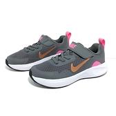《7+1童鞋》中童 NIKE WEARALLDAY (PS) 輕量 透氣 耐穿 緩震 運動 慢跑鞋 H828 銀灰色